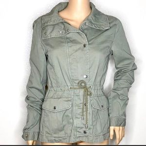 Divided By H&M Women's Olive Utility Jacket Sz 6